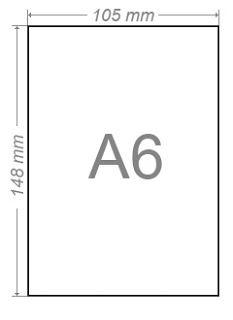Papír A6 80gr. pro tisk receptů 500 listů