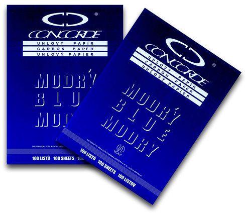 Uhlový papír - kopírák A4 modrý
