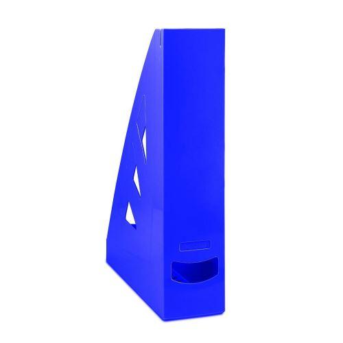 Stojan na časopisy, A4/70 mm, modrý