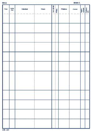 Stavební deník (sešit A4 - 3 x 20 číslovaných listů) NCR , propisovací