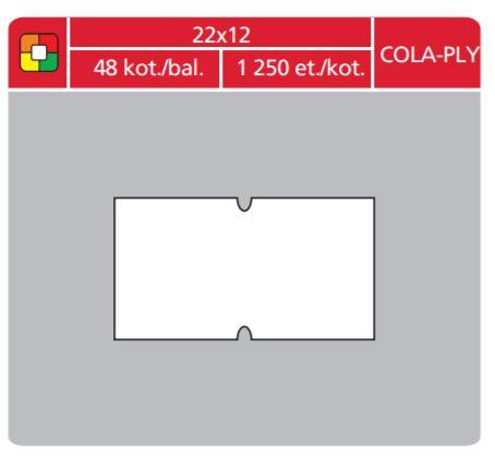 Cenové etikety Cola-Ply 22x12 bílé