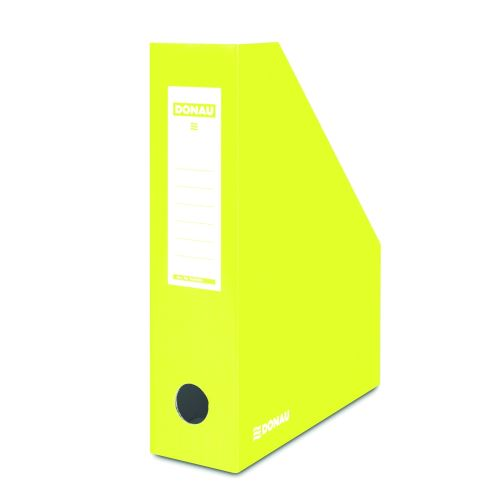 Stojan na časopisy, lakovaná lepenka, A4/80, DONAU, žlutá barva_2