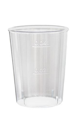Kelímek krystal 2/4 cl  50ks