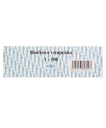 Vstupenka ( blok 100 lístků - číslované )