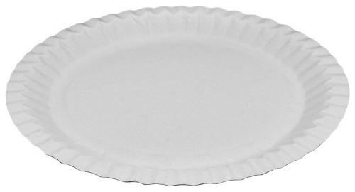 Papírové talíře mělké 23 cm 100 ks
