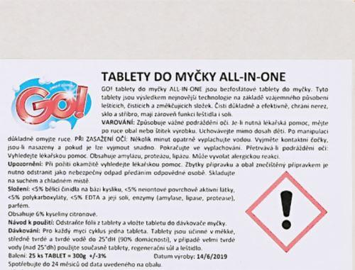 Tablety do myčky GO! ALL IN ONE  25 ks