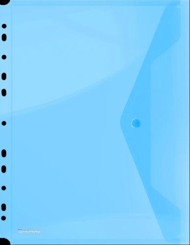 Obálka s drukem průhledná A4, euroděrování PP, modrá