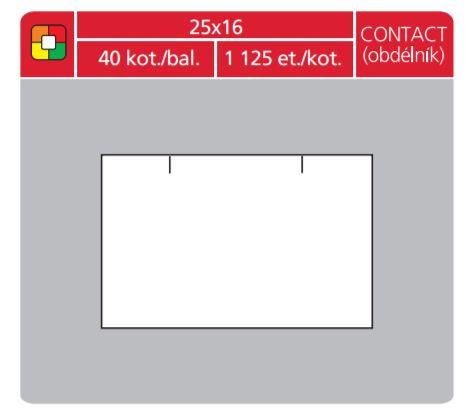 Značkovací etokety Contact 25x16 bílé obdelník_2