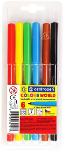 Popisovač 7550/6 sada 6 barev plast. hrot 1 mm