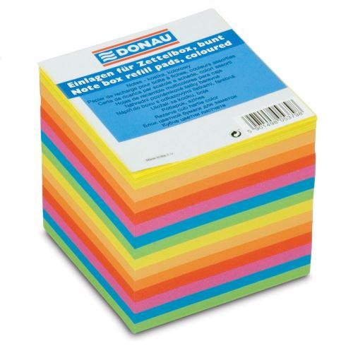 Špalík lepený neonové barvy 90x90x90 mm 700 lístků