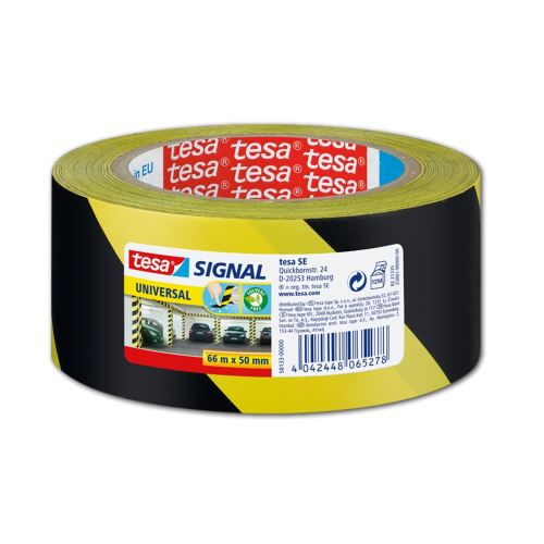 Lepící páska 50mm x 66m výstražná žlutočerná_2