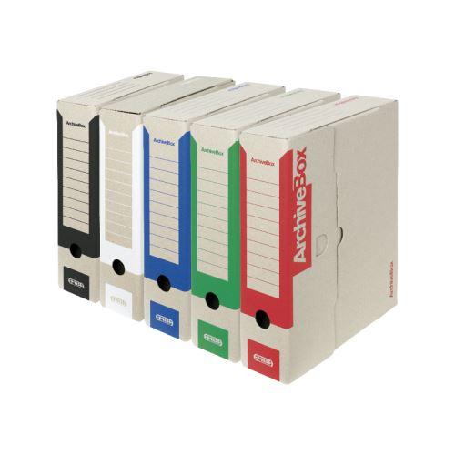 Archivační box vnitřní 330x260x75 červený TYP I/75