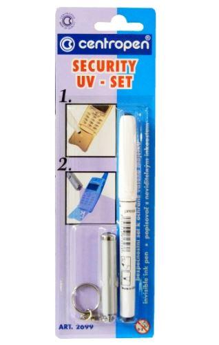 Popisovač 2699 security UV-SET stopa písma viditelná pouze pod UV lampou