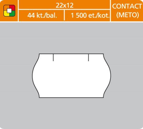 Cenové etikety Contact (Meto) 22x12 bílé