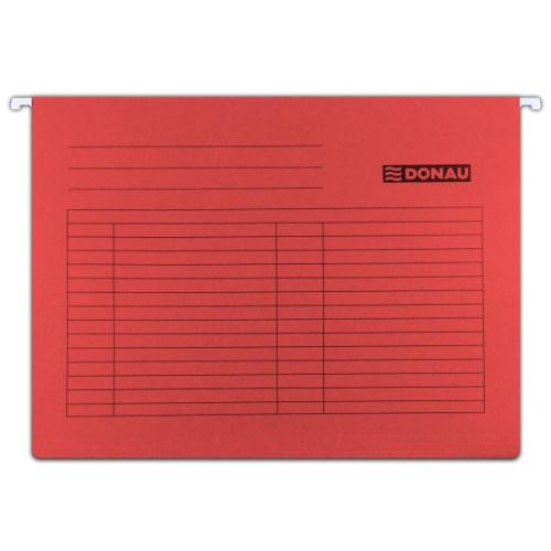 Závěsné desky - kapsy A4 červené