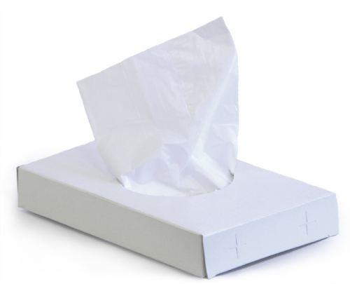 Hygienické sáčky bílé (HDPE) 8+6x25cm 30ks