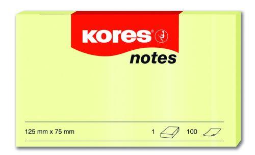 Samolepící bloček 125x75 žlutý 100 listů