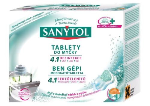 Sanytol Tablety do myčky  4v1 40 tablet