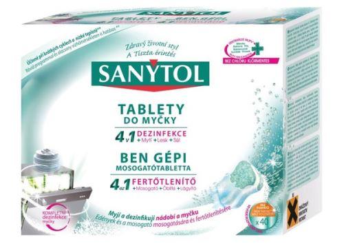 Tablety do myčky Sanytol 4v1 40 tablet