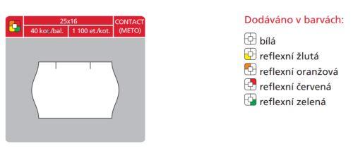 Cenové etikety Contact 25x16 oranžové signální
