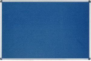 Filcová tabule 90x120 modrá ALU rám