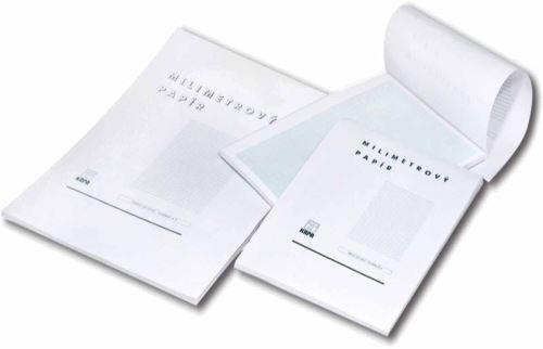 milimetrový papír A3/50 listů blok