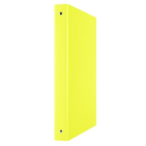 Pořadač 4-kroužkový , A4/35 mm, PP, žlutý