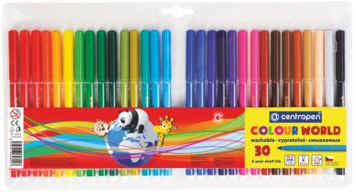 Popisovač 7550/30 sada 30 barev plast. hrot 1 mm