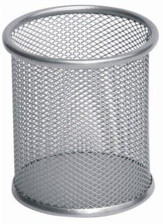 Drátěný stojánek na tužky stříbrný