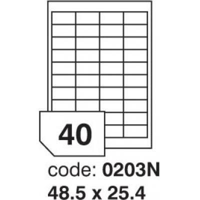 Etikety 48,5x25,4 40 etiket arch/100 archů 0203N