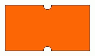 Cenové etikety Cola-Ply 22x12 oranžové signální