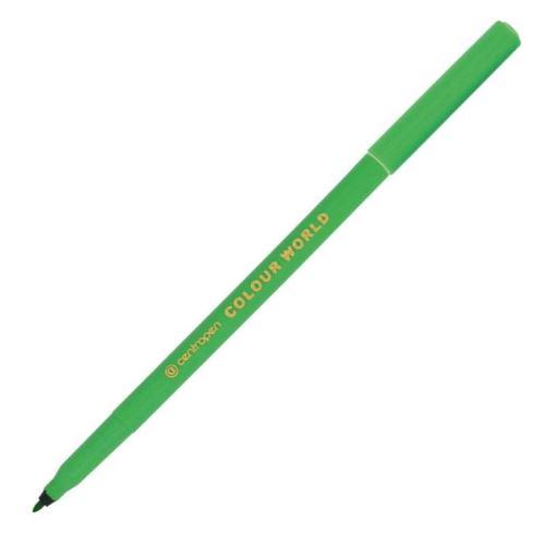 Popisovač 7550 zelený plast. hrot 1 mm