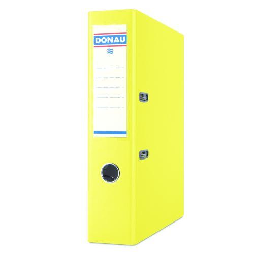 Pořadač pákový A4 7,5 cm PP žlutý DONAU_2