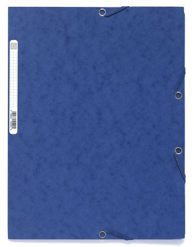 Exacompta spisové desky s gumičkou A4 maxi, prešpán modré