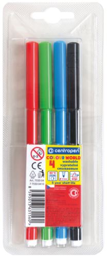Popisovač 7550/4 sada 4 barev plast. hrot 1 mm