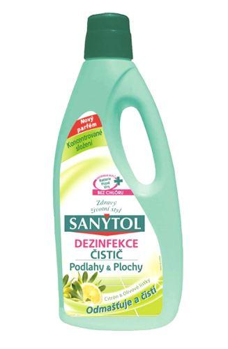 Sanytol  univerzální čistič, koncentrát na podlahy, citrón, 1000 ml