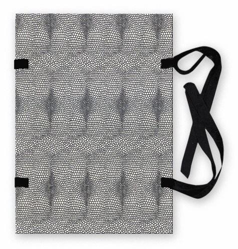 Spisové desky A4 s tkanicí, hadí kůže