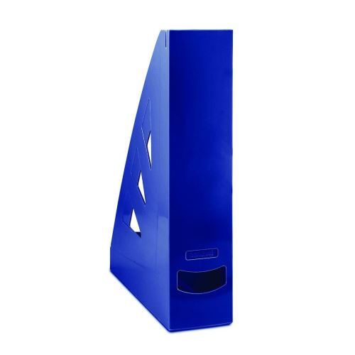 Stojan na časopisy, A4/70 mm, tmavě modrý