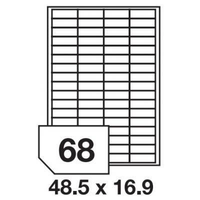Etikety 48,5x16,9 68 etiket arch/100 archů