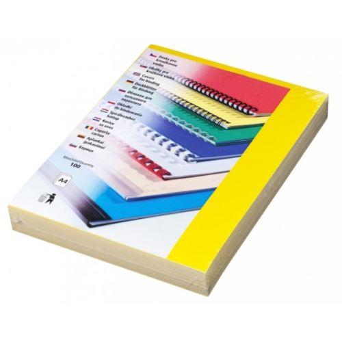 Přední desky pro vazbu 200 mic - A4 žluté
