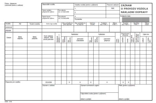 Stazka nákladní NCR  , propisovací