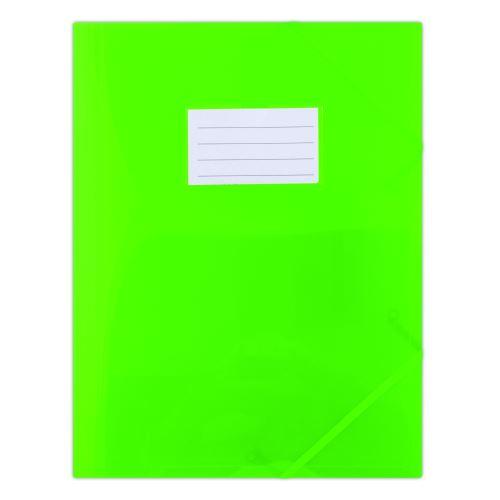 Odkládací mapa 253 PP se štítkem a gumou zelená poloprůhledná _2