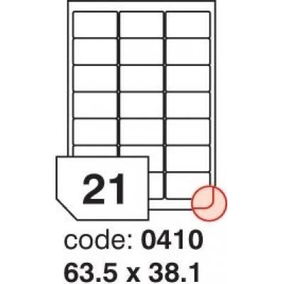 Etikety 63,5x38,1 21 etiket arch/100 archů