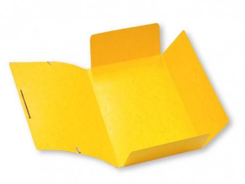 Mapa 253 prešpánová s gumou žlutá_2