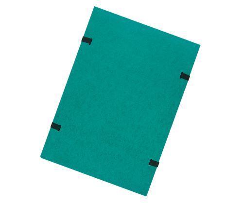 Spisové desky s tkanicí A4 zelené prešpán