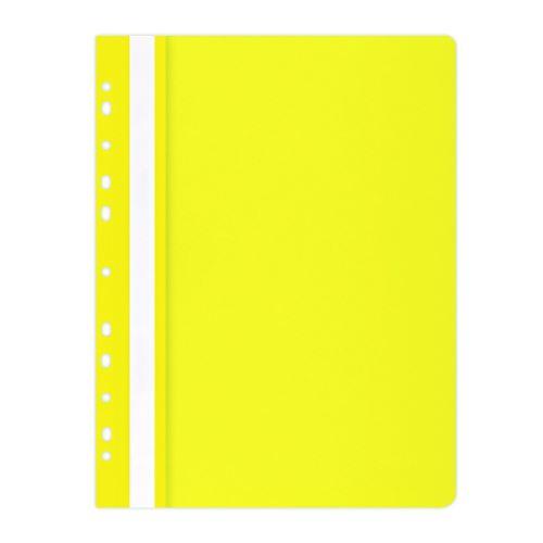 Rychlovazač A4, euroděrování, PP, 100/170 µm, žlutý