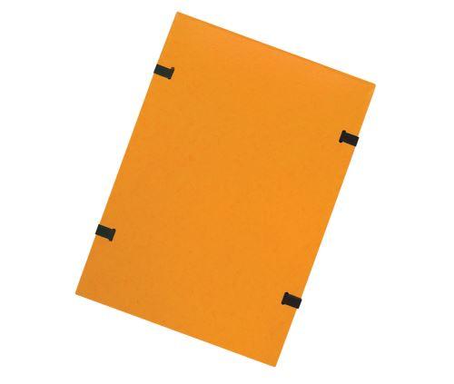 Spisové desky s tkanicí A4 žluté prešpán
