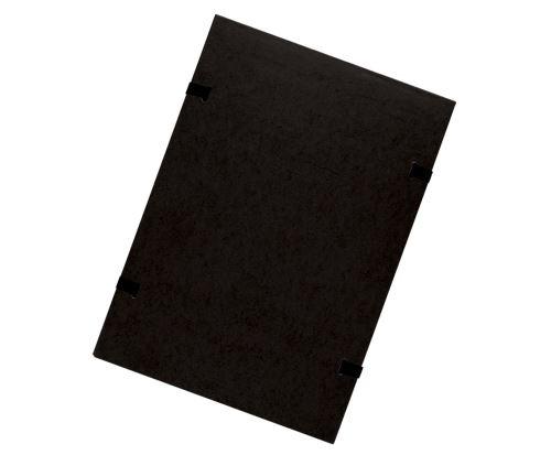 Spisové desky s tkanicí A4 černé prešpán