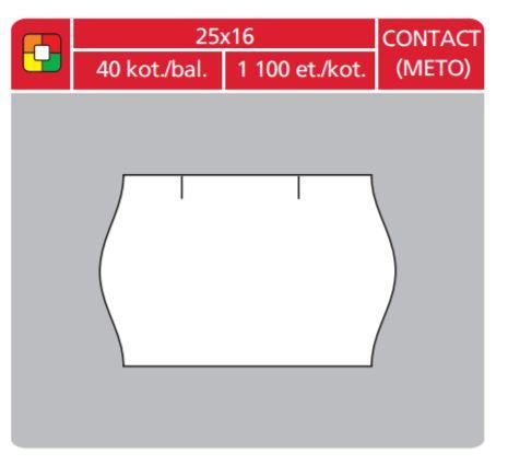 Cenové etikety Contact (Meto) 25x16 bílé