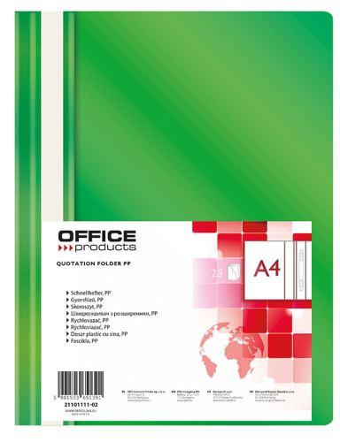 Rychlovazač A4, PP, 100/170 µm, zelený